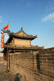 Ancient city wall in xian Stock Photo