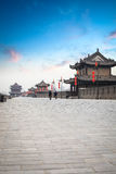 Xian city wall at dusk Royalty Free Stock Image