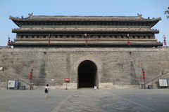 Ancient city wall in Xian Royalty Free Stock Photography