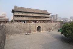 Ancient city wall in Xian Royalty Free Stock Image