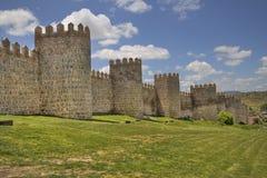 Ancient city walls of Avila, Spain Stock Image