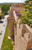 Ancient city walls of Avila, Spain Stock Photography