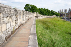 Ancient City Walls in the City of York, England, UK Stock Photography
