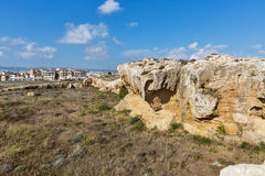 Ancient city walls ruins in Paphos, Cyprus. Royalty Free Stock Images