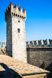 Ancient city walls at SIRMIONE Royalty Free Stock Image