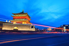 Ancient city of xi'an at night Stock Images