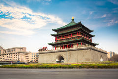 Ancient city xian bell tower Royalty Free Stock Images