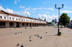 Ancient city of Yuryev-Polsky. Russia. Square in Ancient city of Yuryev-Polsky. Russia royalty free stock photography