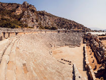 Ancient civilization temple. Amphitheater. Panoramic background Royalty Free Stock Photography