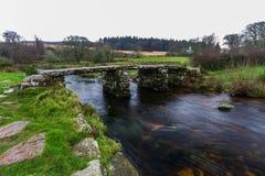 Ancient clapper bridge Royalty Free Stock Image