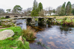 Ancient clapper bridge Stock Images
