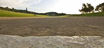 Ancient classic greek olympic stadium at Olympia Royalty Free Stock Photography