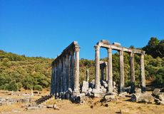 Ancient classic greek ruins royalty free stock photo