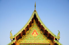 Temple roof. Ancient classic temple roof in thailand stock photos