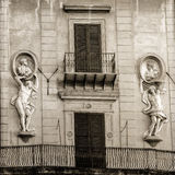 Ancient Classical House Fasade Royalty Free Stock Image