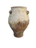 Ancient clay Minoan decorated amphora isolated Royalty Free Stock Photo