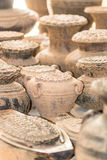 Ancient clay potteries Royalty Free Stock Photos