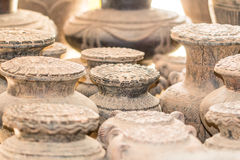 Ancient clay potteries Stock Image