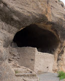An ancient cliff dwelling in the gila wilderness Stock Images