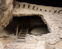 An ancient cliff dwelling in the gila wilderness Royalty Free Stock Image