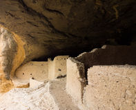 Ancient cliff dwellings in the gila wilderness Stock Image