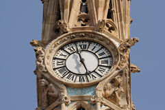 Ancient clock in Barcelona, Spain Royalty Free Stock Images