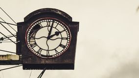 Ancient Clock in Down Town. Yangon, Myanmar royalty free stock photography