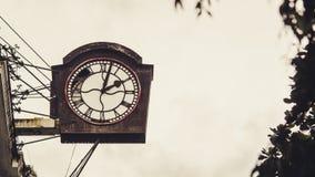 Ancient Clock in Down Town. Yangon, Myanmar royalty free stock photo