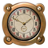Ancient clock ector. Ancient clock in the style of steampunk Royalty Free Stock Photos