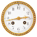 Ancient clock face with diamonds isolated on white. Ancient clock face with diamonds isolated on a white background stock photography