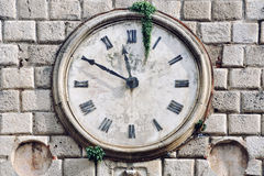 Ancient clock in Kotor, Montenegro Stock Photos