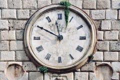 Ancient clock in Kotor, Montenegro Stock Photos