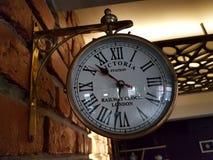 Ancient clock. An ancient clock at a local hotel in Bangalore, Karnataka, India Stock Photography