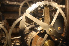 Ancient Clock Mechanism Stock Image