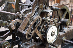 Ancient clock mechanism Royalty Free Stock Images