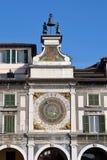 The ancient clock of Piazza della Loggia in Brescia Stock Images