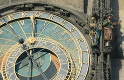 Ancient clock. Royalty Free Stock Images
