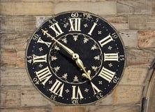 Ancient clock tower. Ancient English clock tower York city, United Kingdom stock image