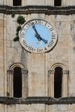 Ancient clock tower of St Nicholas Church, Montenegro Royalty Free Stock Images