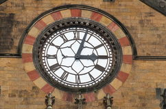 Ancient clock at Victoria Terminus Stock Images