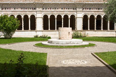 Ancient cloister stock photography