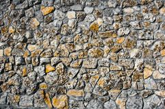 Stone wallAncient clutches of shell rock. texture. royalty free stock photography