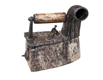 Ancient coal iron with chimney Royalty Free Stock Image