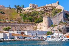 Ancient coastal citadel of Bonifacio Royalty Free Stock Photos