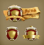 Ancient coat of arms. Vector illustration Stock Photography