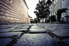 ancient cobblestone on the city street Stock Photography