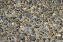 Ancient cobblestone on the italian street. Beautiful ancient cobblestone on the italian street Royalty Free Stock Image
