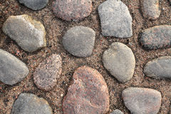 Ancient Cobblestone Pavement Background Royalty Free Stock Image