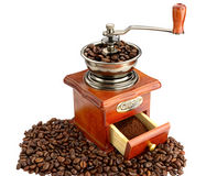 Ancient coffee grinder Royalty Free Stock Photos