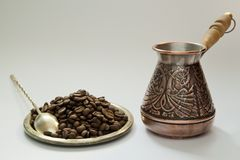 Ancient coffee maker Royalty Free Stock Images